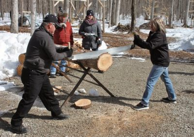 Maple Magic Sawing Wood